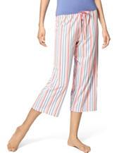 Hue® Plus-size  Fushion Striped Capri Pajamas