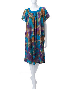 Loungees Plus-size Abstract Print House Dress