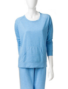 Goodnight Kiss Blue French Terry Top