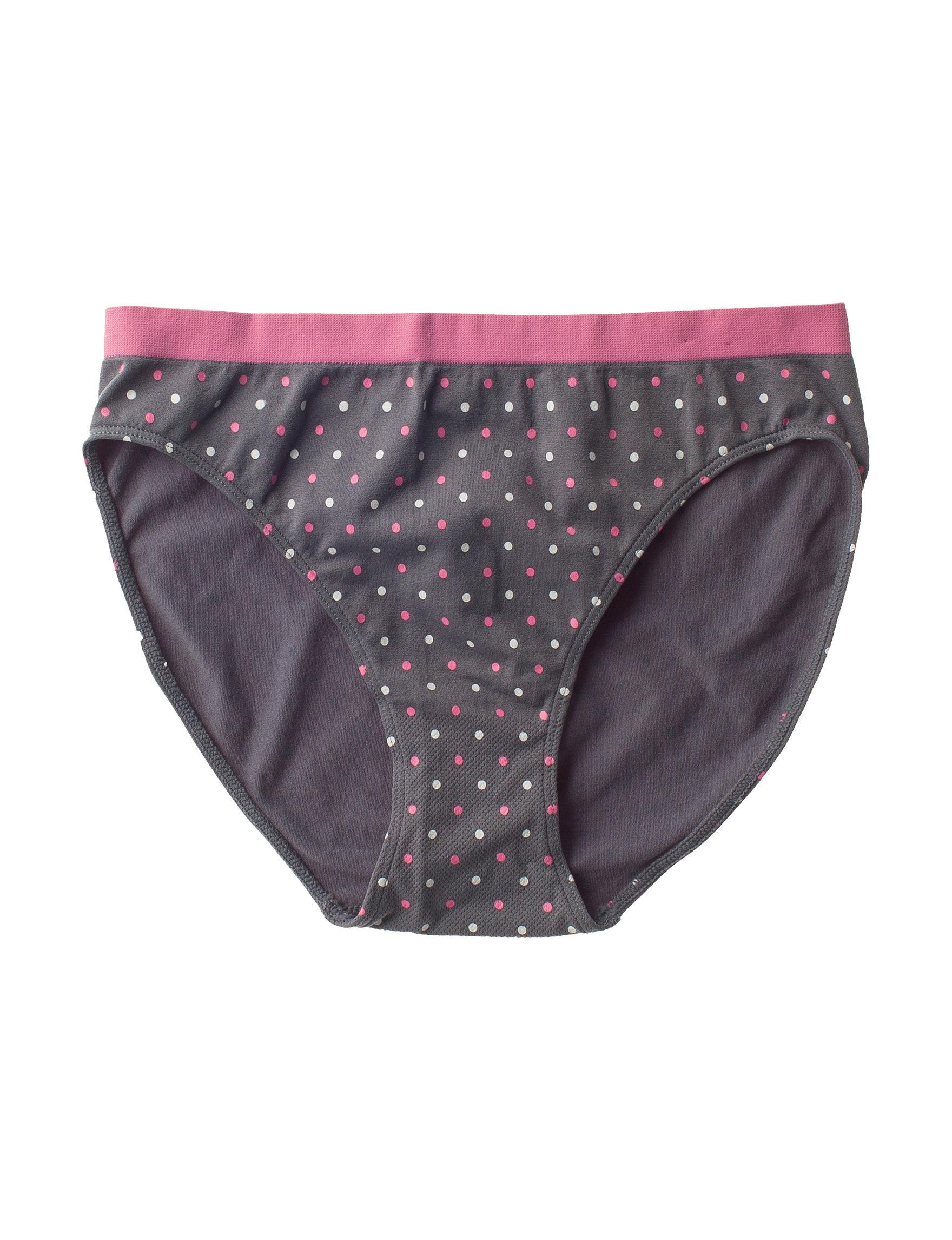 Rene Rofe Grey Multi Panties Full Coverage High Cut