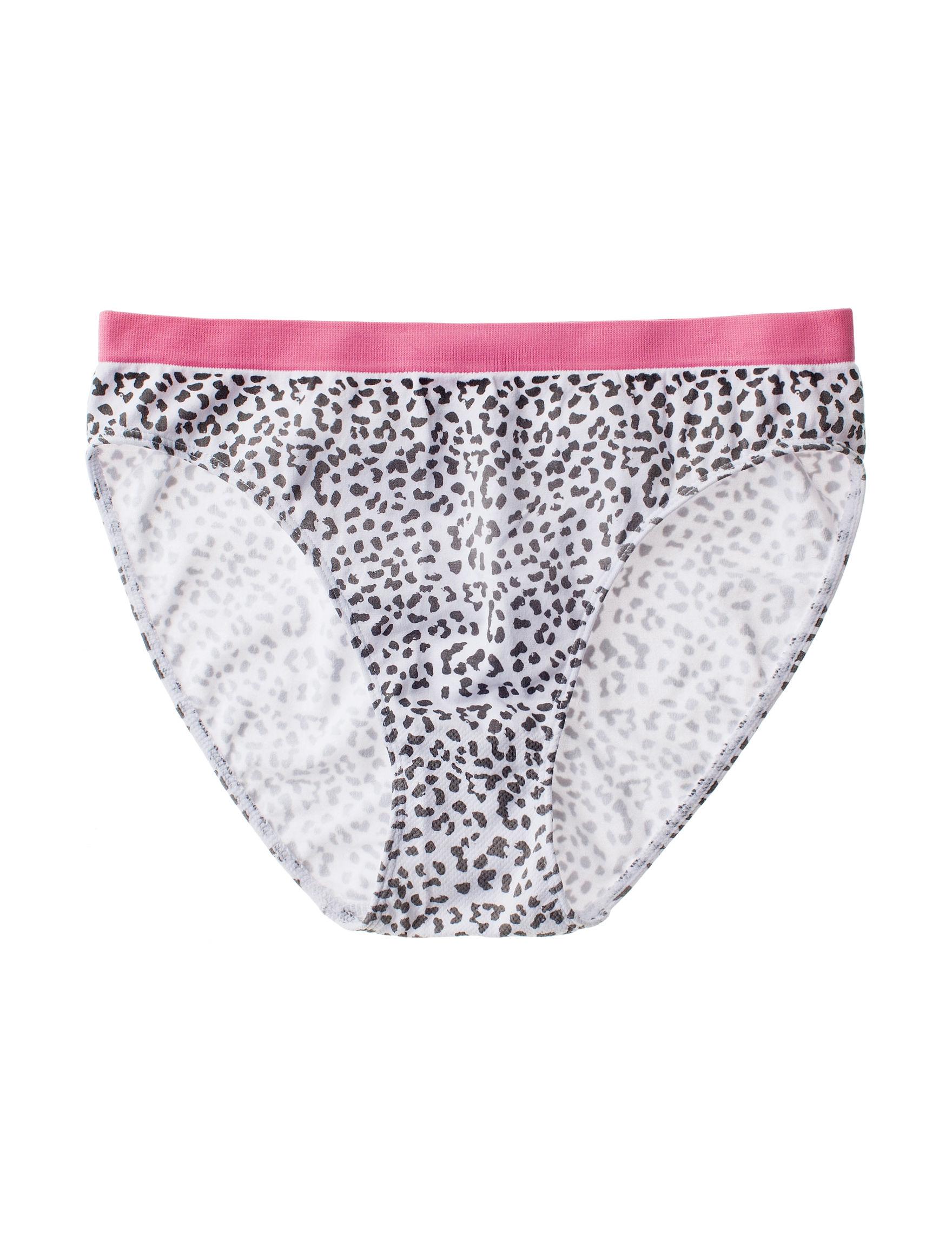 Rene Rofe Animal Print Panties High Cut