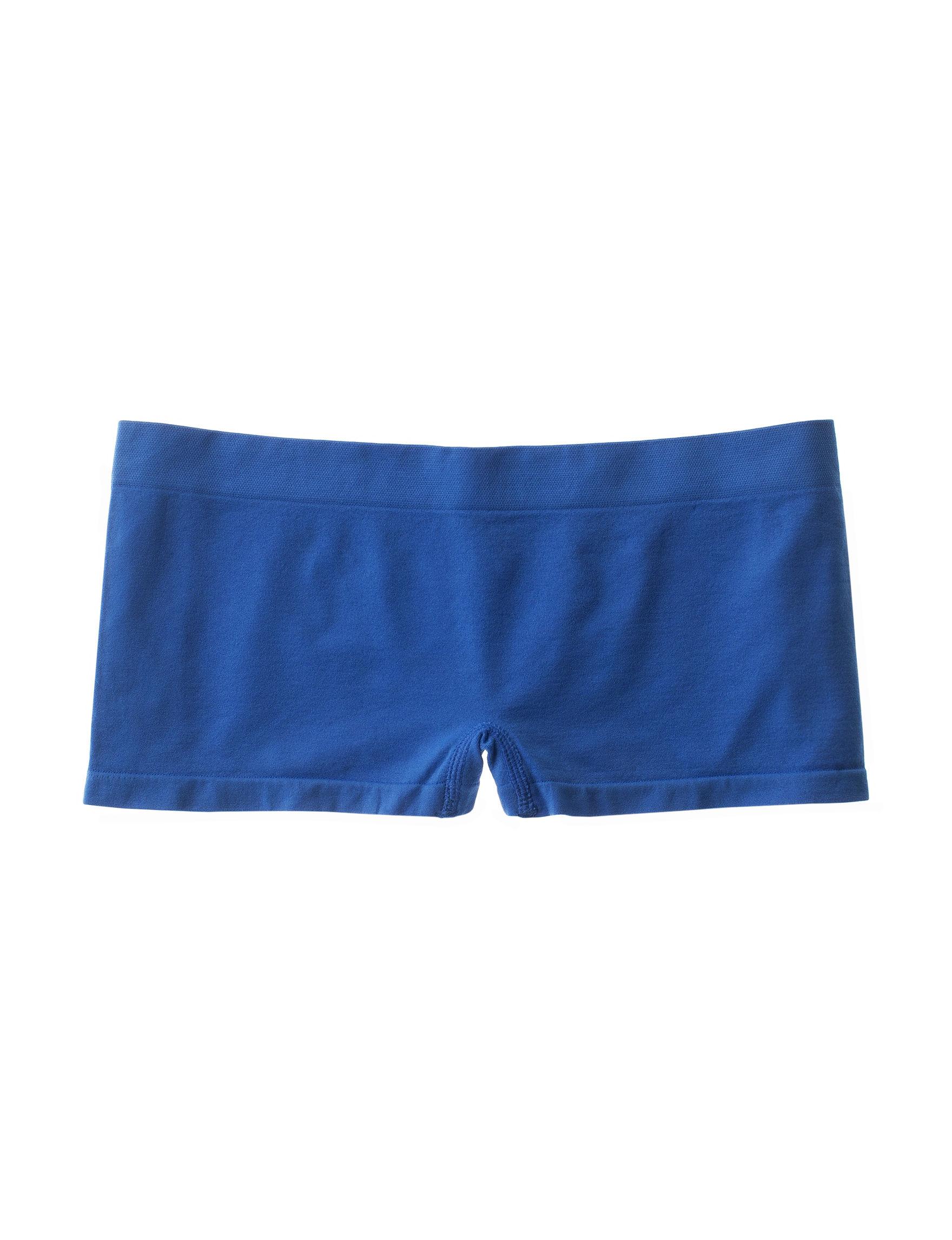 B Intimates Grey / Blue Panties Boyshort