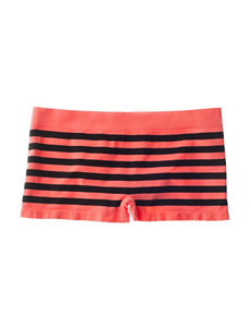 B Intimates 2 Cute Stripe Print Cheeky Boyshort Panties