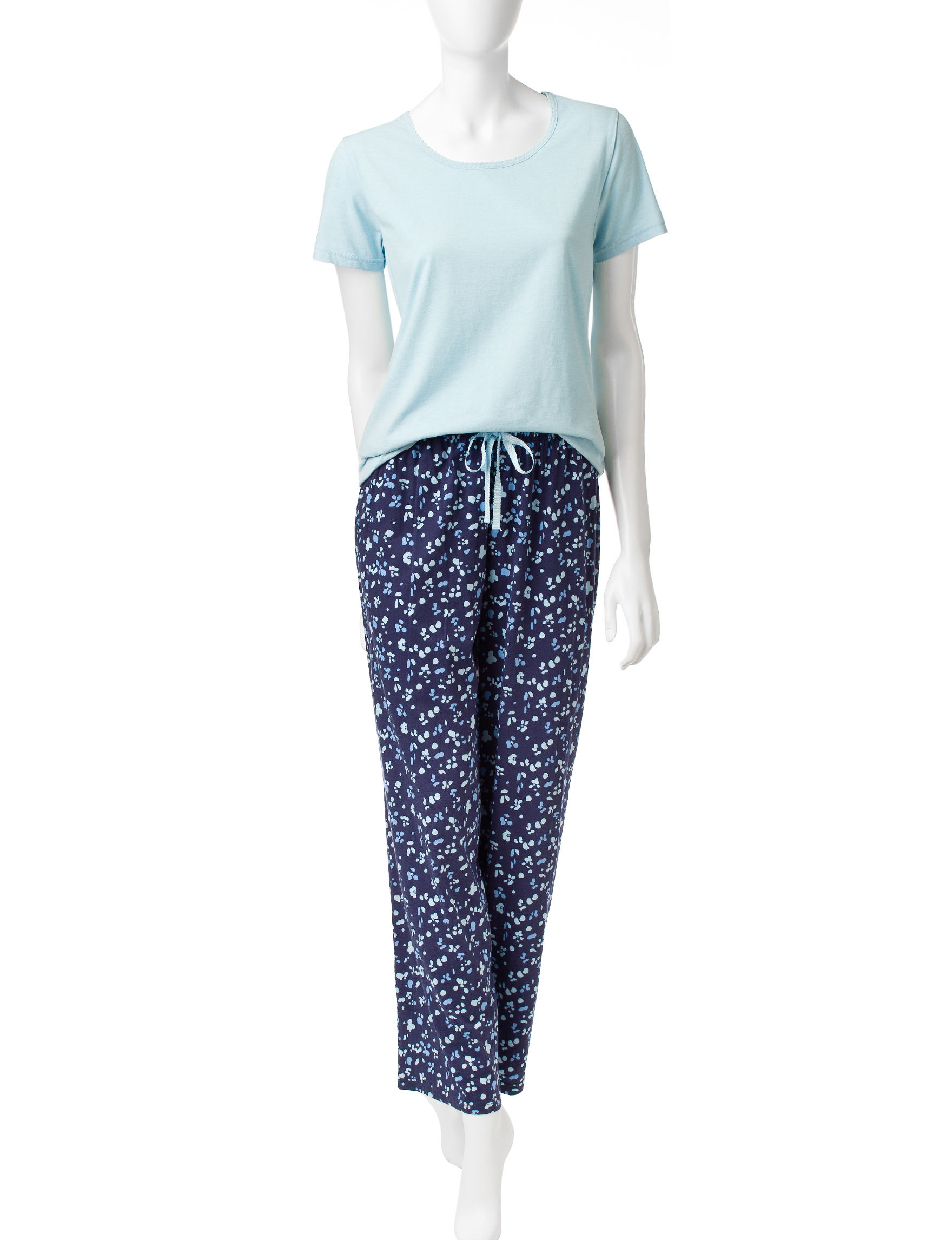 Hanes Navy Pajama Sets