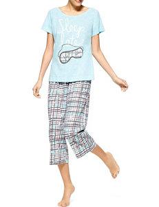 Hue Blue Multi Pajama Bottoms