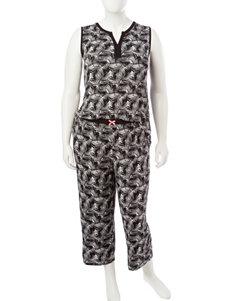 Ellen Tracy White / Black Pajama Sets