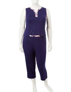 Ellen Tracy Navy Pajama Sets