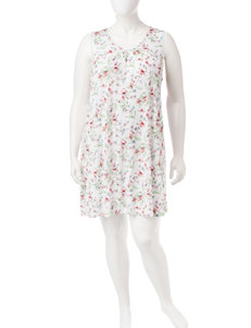 Aria Plus-size Floral Print Nightgown