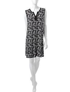 Ellen Tracy White / Black Nightgowns & Sleep Shirts
