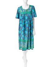 Loungees Floral Print Woven House Dress