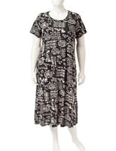 Loungees Plus-size Floral Print House Dress