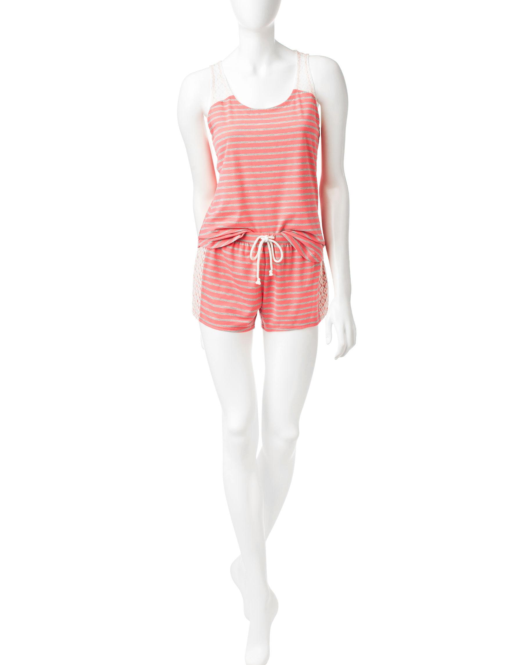 PJ Couture Orange Pajama Sets