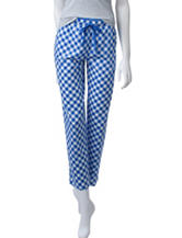 Goodnight Kiss Gingham Print Plaid Pants