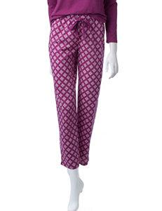 Goodnight Kiss Diamond Print Plaid Pants