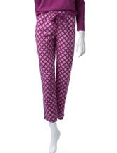 Goodnight Kiss Diamond Print Plaid Pants