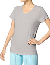Hue® Solid Grey Sleep Top