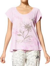 Hue® Dreamy Floral Print Pajama Top