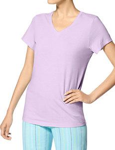 Hue Plus-size Lavender Pajama Top