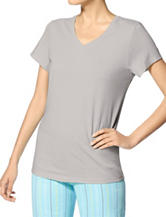 Hue® Grey Plus-size Pajama Top