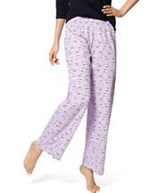 Hue® Plus-size Lavender Sketch My Dog Pajama Pants