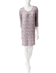 Ellen Tracy Paisley Print Short Gown