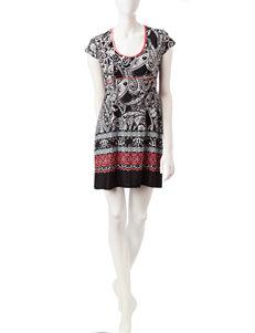 Linea Donatella Black Nightgowns & Sleep Shirts