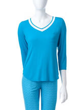 Laura Ashley Blue Top
