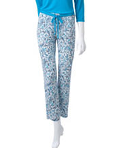 Laura Ashley Paisley Print Pants