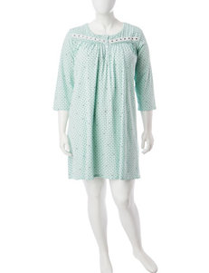 Aria Plus-size Geo Print Short Gown