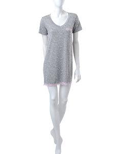 Laura Ashley Pink & Grey Script Sleepshirt
