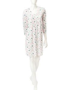 Aria Floral Print Short Gown