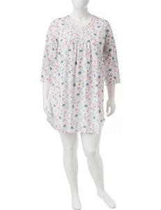 Aria Plus-size Paisley Floral Print Gown