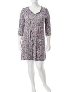 Ellen Tracy Plus-Size Diamond Geo Short Nightgown