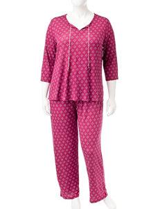 Ellen Tracy Berry Pajama Sets