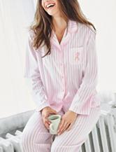 Jasmine Rose Striped Print Top & Pants Pajamas