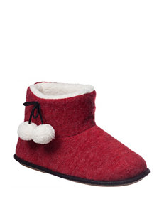 Hanes Heather Red Slipper Boots & Booties