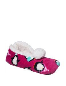 PJ Couture Penguin Print Slipper Socks