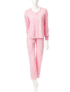 Jasmine Rose Animal Print Top & Pants Pajamas