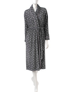 Laura Ashley Polka-Dot Plush Robe
