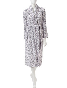Laura Ashley Ombré Scroll Plush Robe