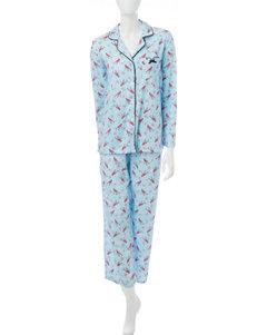Laura Ashley Blue Pajama Sets