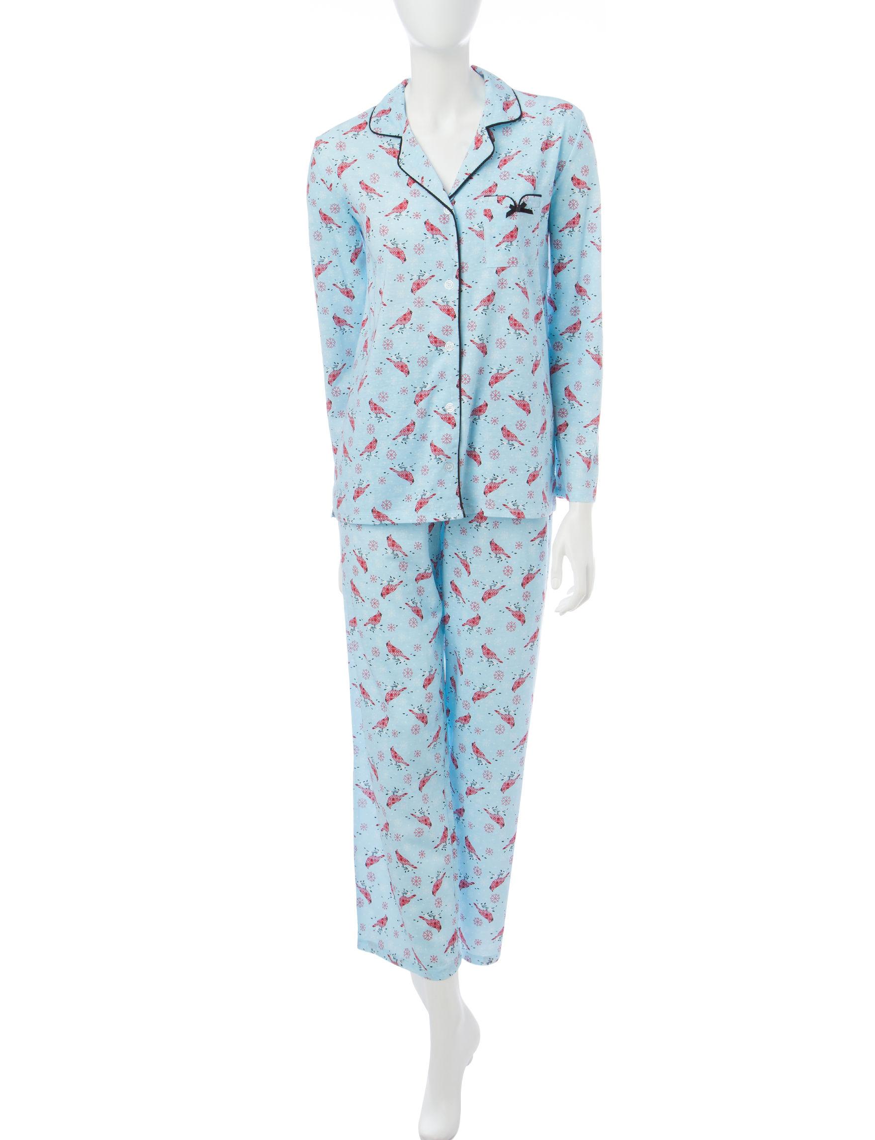 Hannah 2-pc. Cardinal Print Notch Pajamas