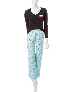 Laura Ashley Black Pajama Sets