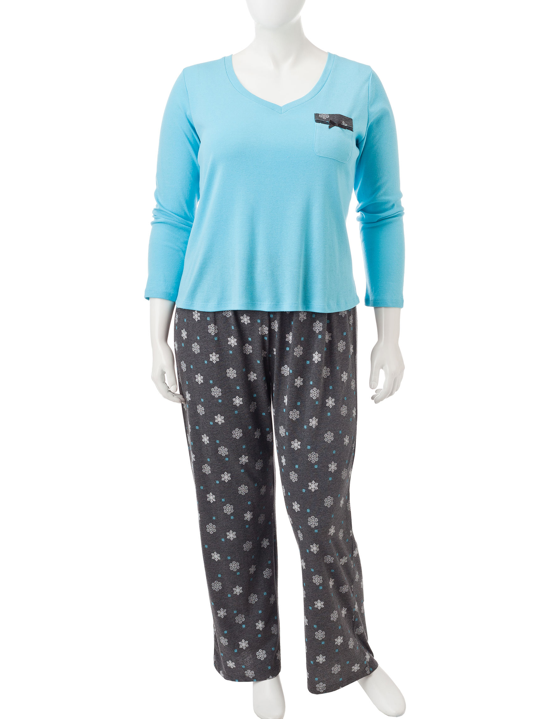 Laura Ashley Blue Pajama Sets