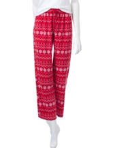 Hannah Fair Isle Print Micro Fleece Pajama Pants