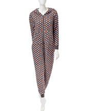 René Rofé Fox Print Onesie Pajamas