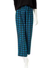 Rene Rofe Plaid Print Pajama Pants