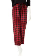 Hannah Red & Black Plaid Print Pants