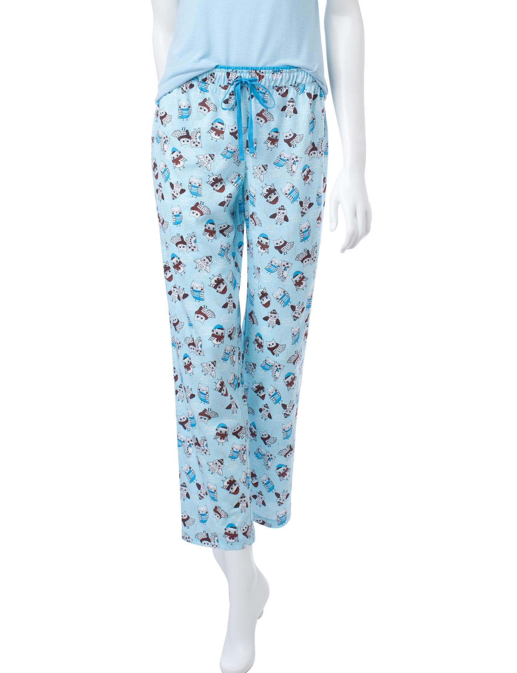 Hannah Blue Pajama Bottoms
