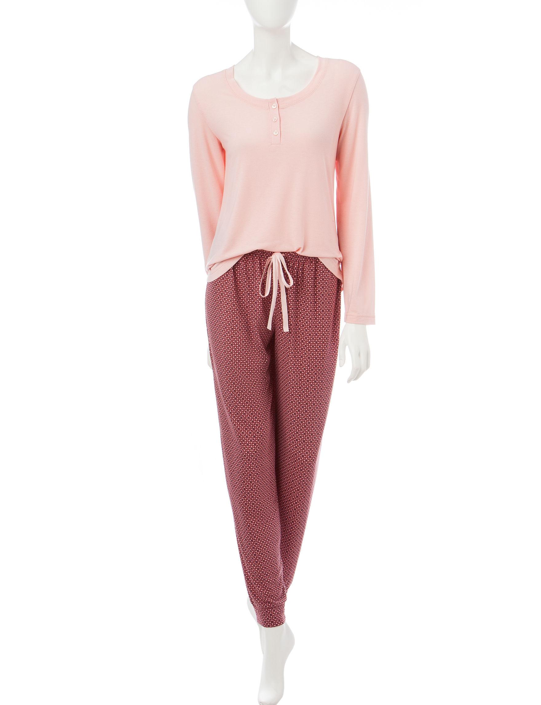 Hanes Pink Multi Pajama Sets